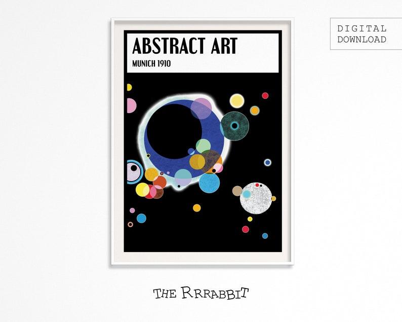 ABSTRACT ART Printable Poster black  Art Movement Poster  image 0
