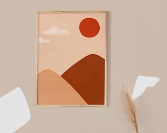 Minimalist illustration poster A3 or A4 #005 wall decoration