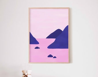 Minimalist illustration poster A3 or A4 #013 wall decoration