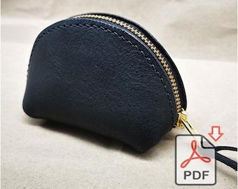 Leather Coin Case Bag, Coin Bag Purse, Erphone Case. Earphone holder, Lipstick Bag PDF Pattern
