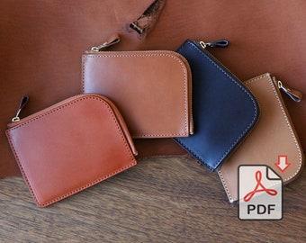 Leather Slim Zipper Wallet PDF Pattern