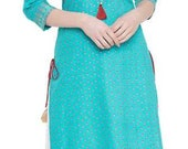 Indian and western design combination kurta with skirt made in rayon fabric