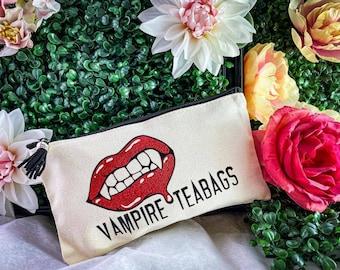Vampire Teabags - Zipper Bag/Tampon Holder