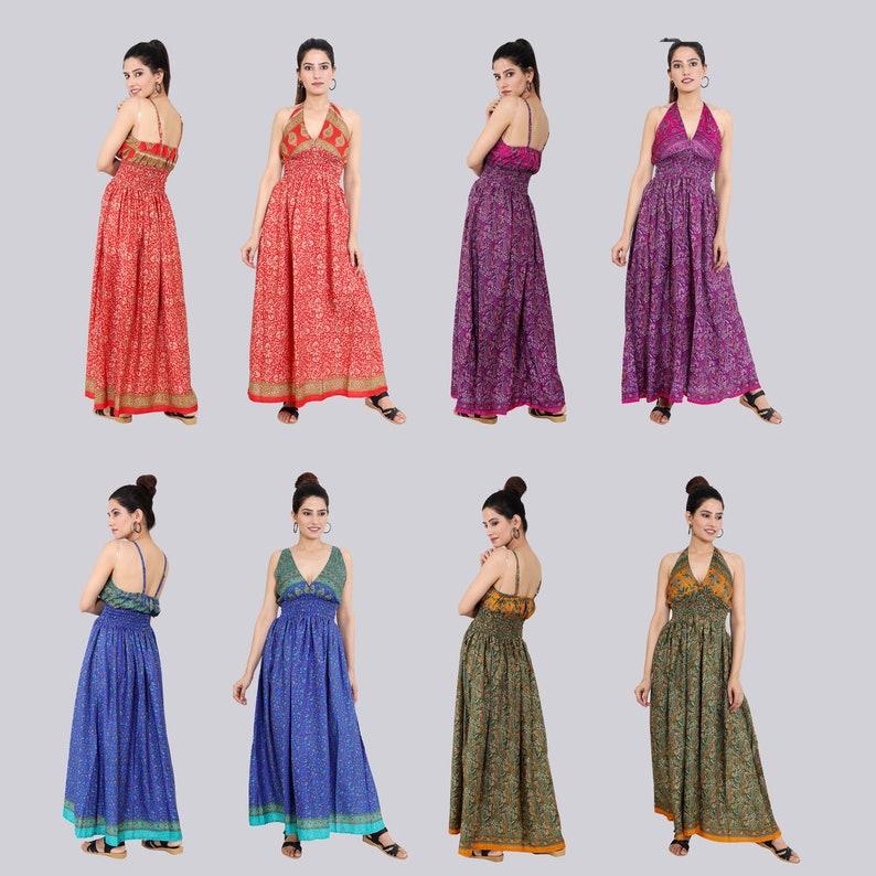 *ILLOT DRESS women/'s dress Bohemian Long Summer Dress long sleeveless dress Silky Maxi Dress resort wear 5 pc lot Maxi Summer Dress