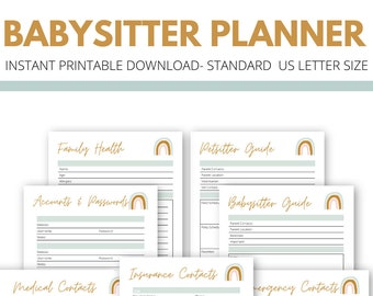 Babysitter And Family Planner | Muted Rainbow