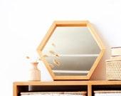 Hexagonal Wall Mirror