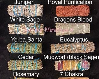 23+ choices | 12 Piece Kit | Black Sage | White Sage | Dragon's Blood | Yerba Santa | Eucalyptus | Cedar | Juniper | Sweetgrass | Palo Sant