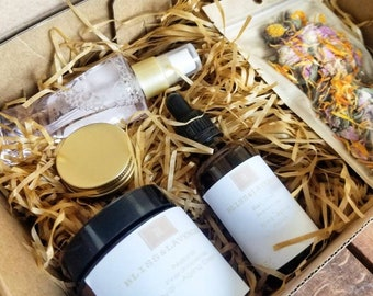 Natural Skin Care, Natural Gift Set, Anti-aging, Skin Care, Gift for Her, Mothers Day Gift, Holiday Gift, Beauty, Gift Box, Natural