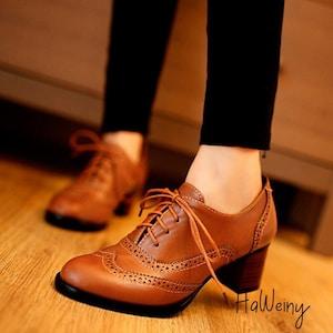 Oxford Shoes Women Etsy