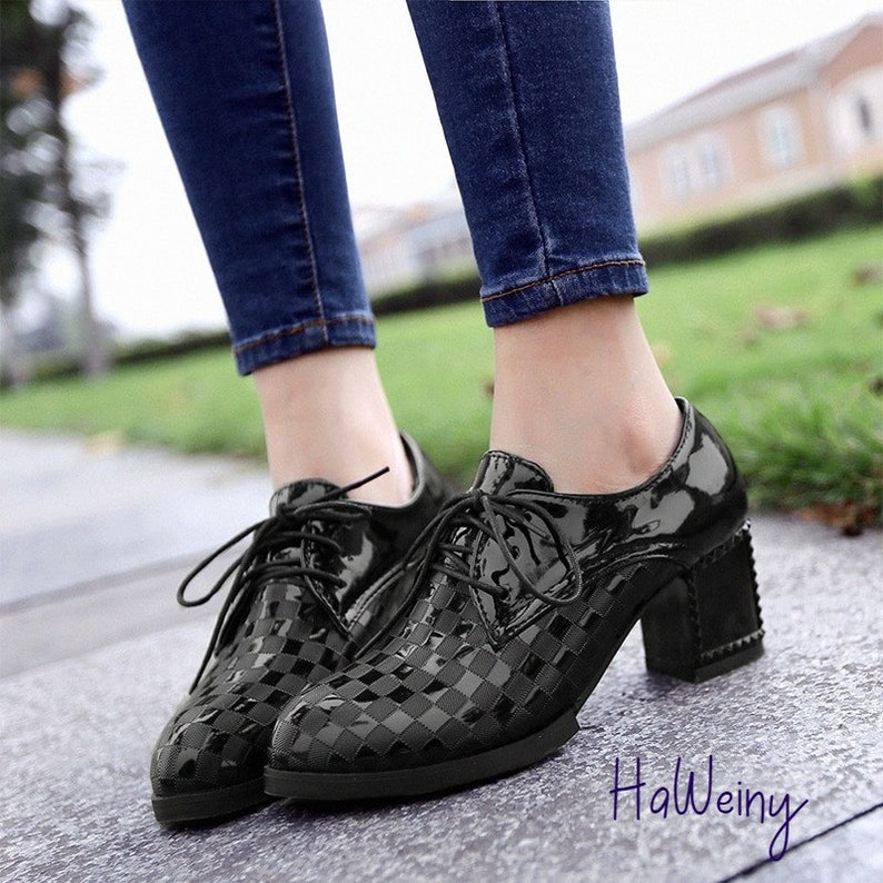 Dress Shoes Woman Footwear Western Style Platform High Heels Fashion Vintage shoes