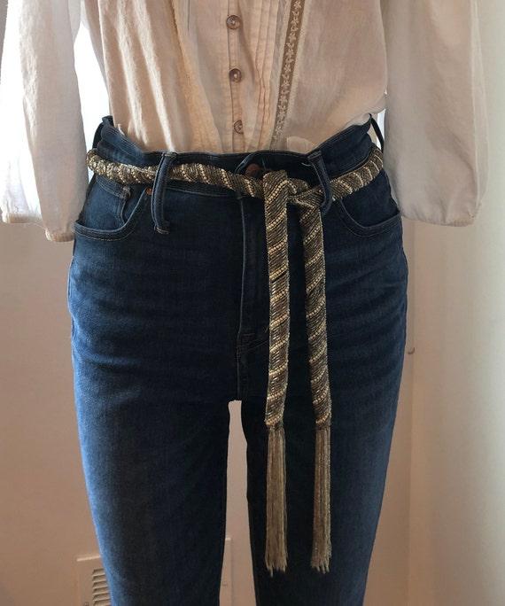 Beaded Fringe Tassle Belt Stevie Nicks Art Deco Sa