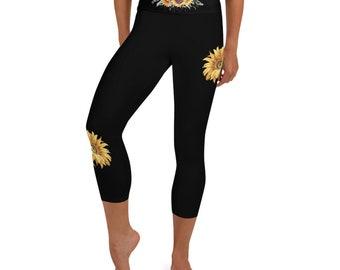 Sunflower Skull Leggings XS-XL
