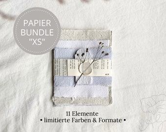 """Handmade handmade paper bundle size """"XS"""" in limited edition, consisting of 11 elements"""