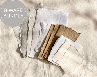 B-Stock handmade handmade paper set - limited edition, consisting of 8-10 elements