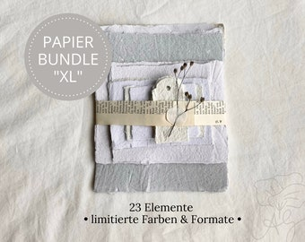 """Handmade handmade paper bundle size """"XL"""" in limited edition, consisting of 23 elements"""
