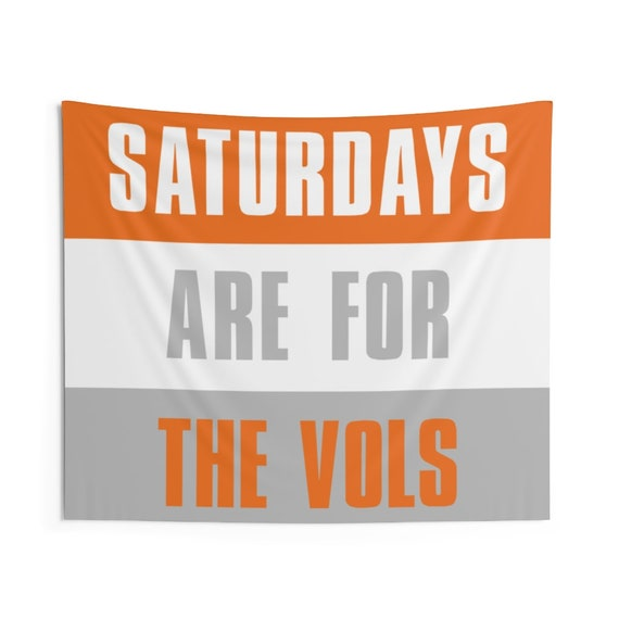 Saturdays Are For The Vols Tennessee Wall Tapestries Etsy