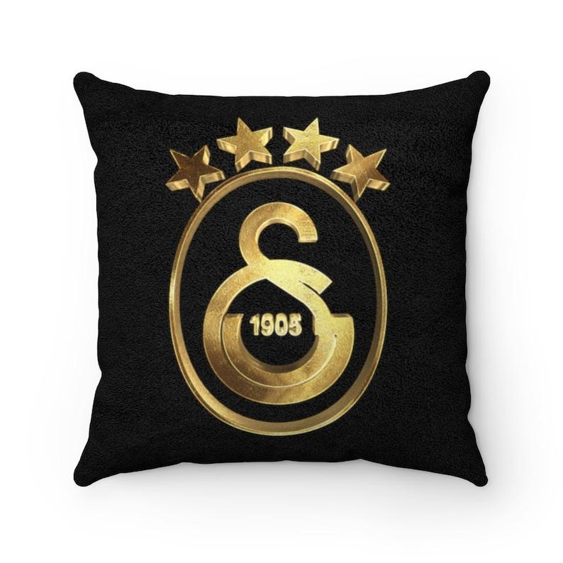 Golden Galatasaray Champions Ultraslan Turkish Football Gala Square Pillow