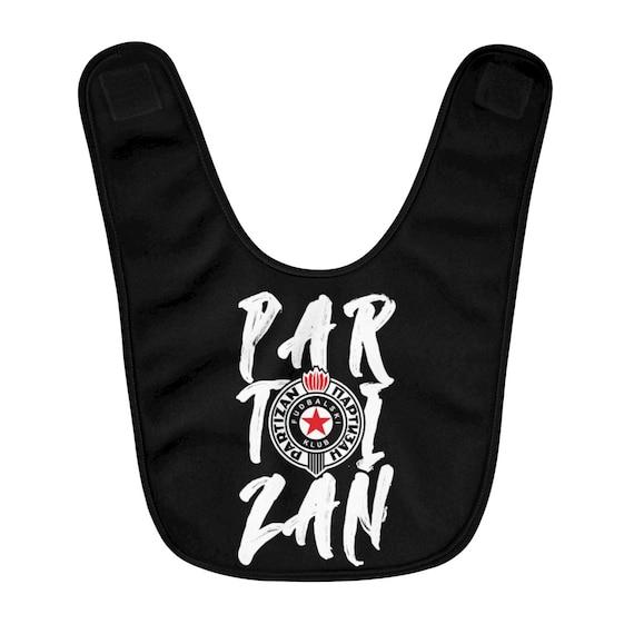 Only Serbia Partizan from Beograd Grobari Belgrade Fleece Baby Bib