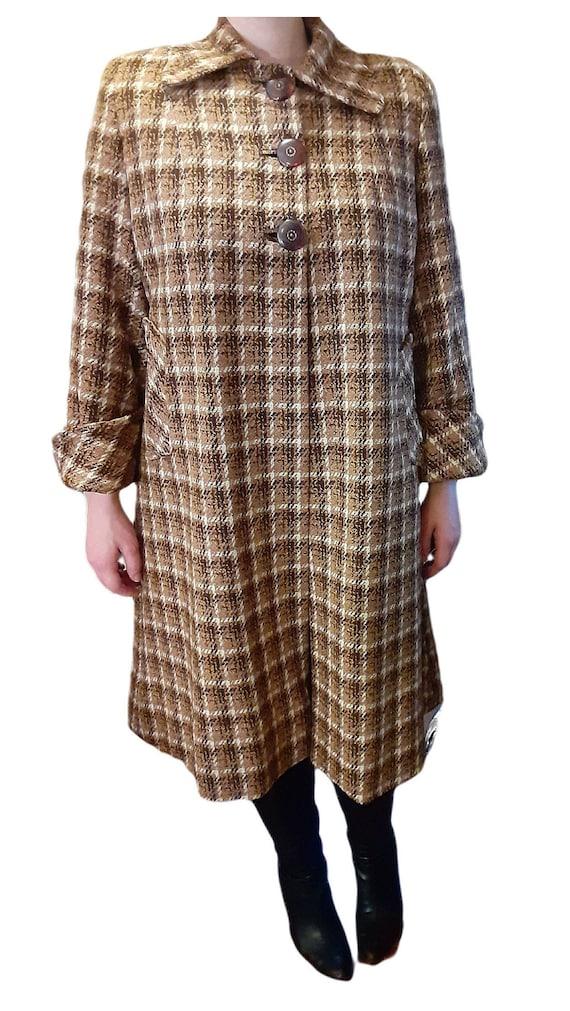 Vintage Late-1940's Women's Dress Coat Full Lenth