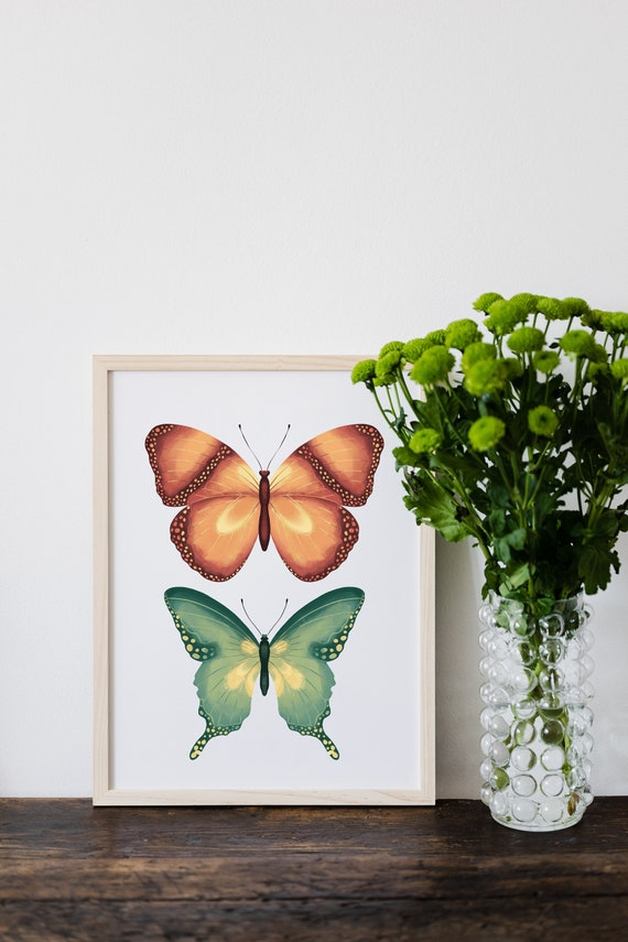 Butterfly Printable, Butterfly Picture, Butterfly Poster, Butterfly Wall Decor, Printable Butterfly, Moth Print, Moth Wall Art