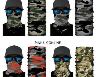 Kids Combat Camouflage Snood Camo Multipurpose Neck Warmer Tube