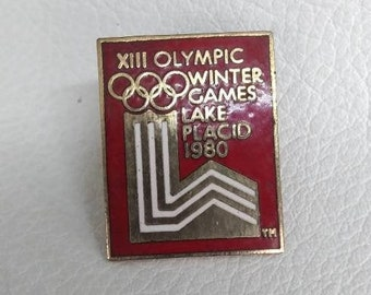 1980 Official Lake Placid Olympics Enamel Pin Collectible Memorabilia