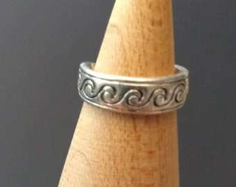 Waves Elegant Toe? Ring Antique Vintage jewelry girl woman fashion statement timeless classic simple stylish Christmas Gift Stocking Stuffer