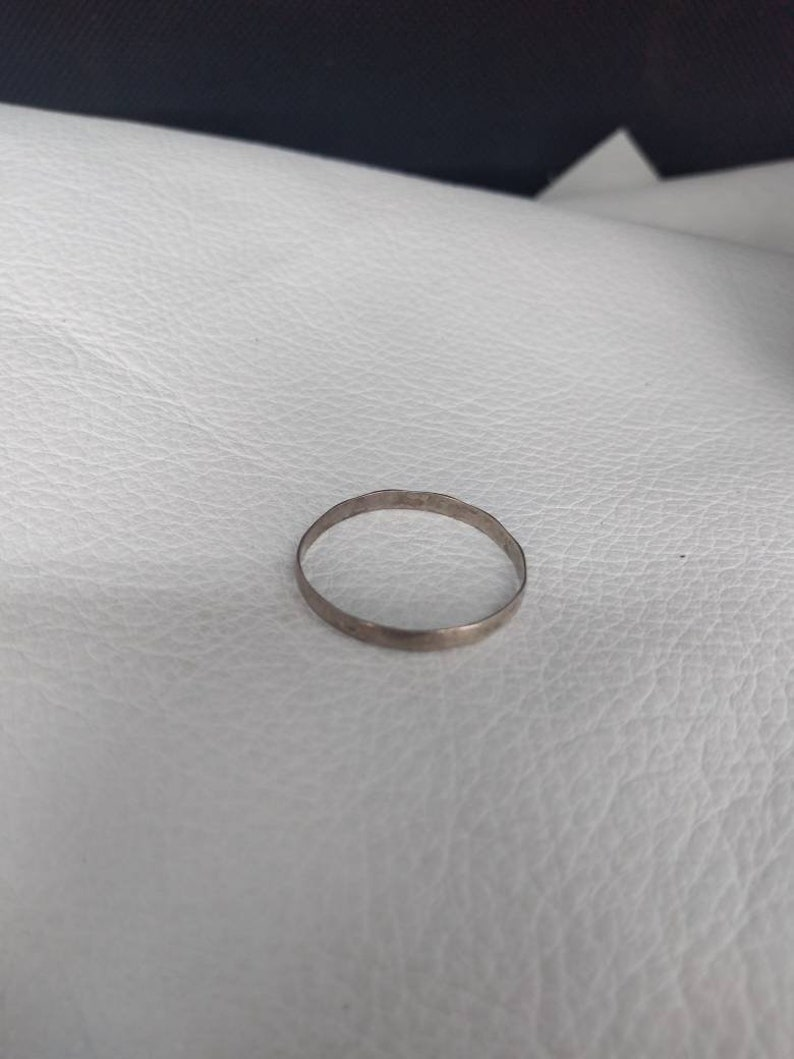 Thin Elegant Ring Antique Vintage Collector jewelry girl woman heirloom fashion statement timeless classic simple chic sleek stylish band