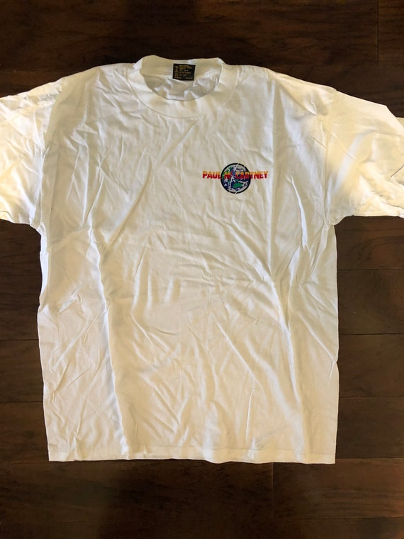 Paul McCartney 1993 world tour embroidered t-shirt