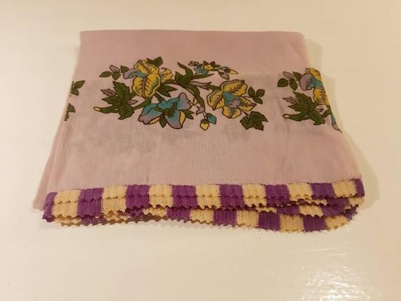 Vintage Turkish Oya Scarf, Needlepoint Linen-Cotto