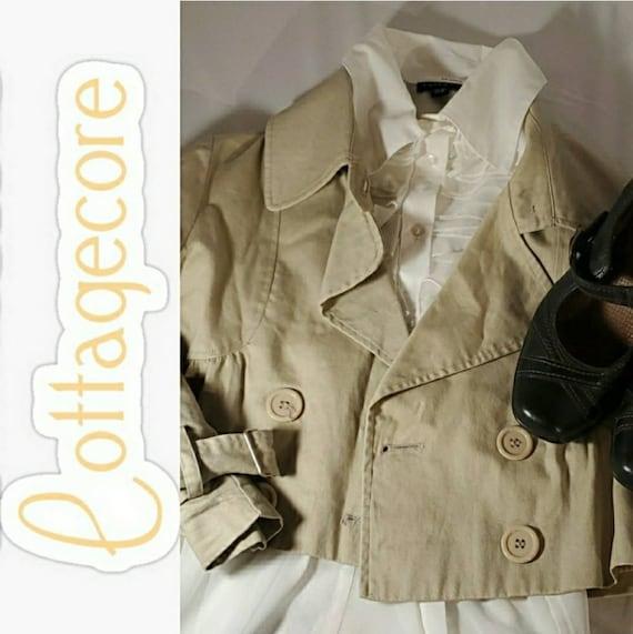 Cottagecore Tan Buttoned Jacket
