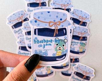 Bluebear from Animal Crossing Glossy Sticker