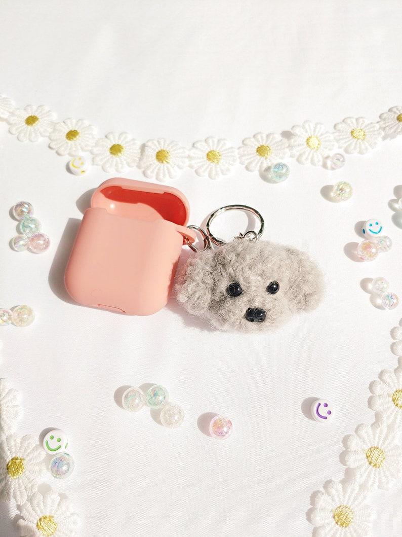 Poodle Keychain Needle Felted Dog Keyring Dog Breed Keyring Pet Portrait Pet Gift Pet Memorial Keyring