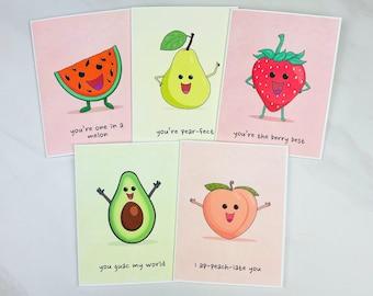 Fruit Pun Greeting Cards