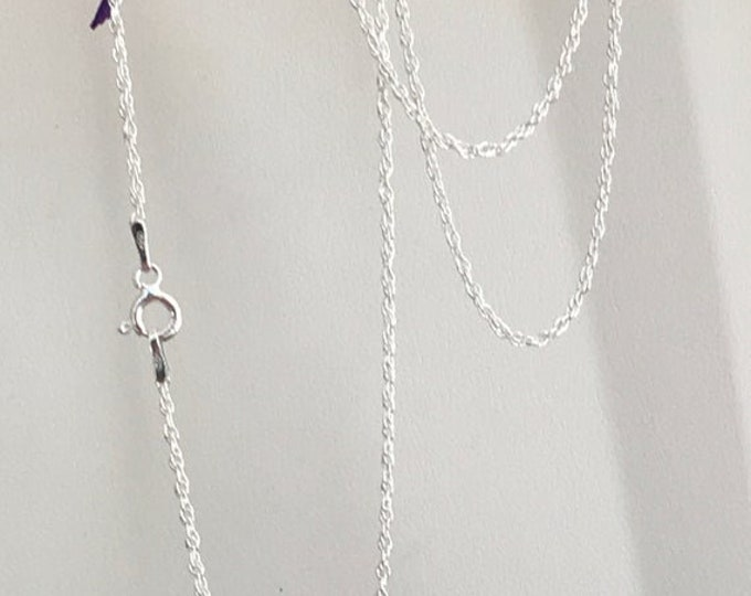 String rope (rope) sterling silver .925 1.5mm