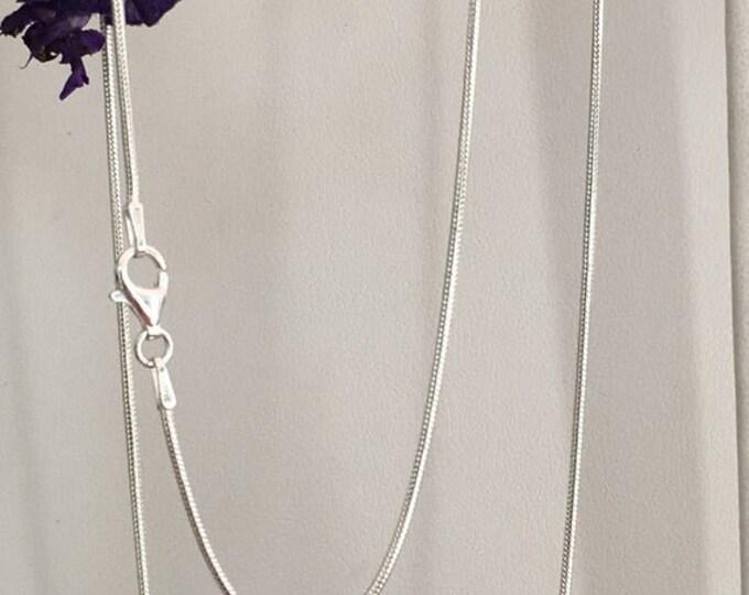 Sterling silver serpentine chain .925