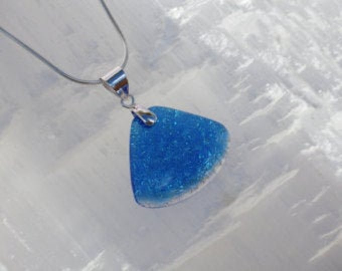 Dichroic glass pendant and sterling silver .925