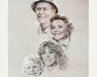 Photo Jane Fonda Henry fonda Kathrine hepburn On Golden Pond   8.5x11 inch photograph