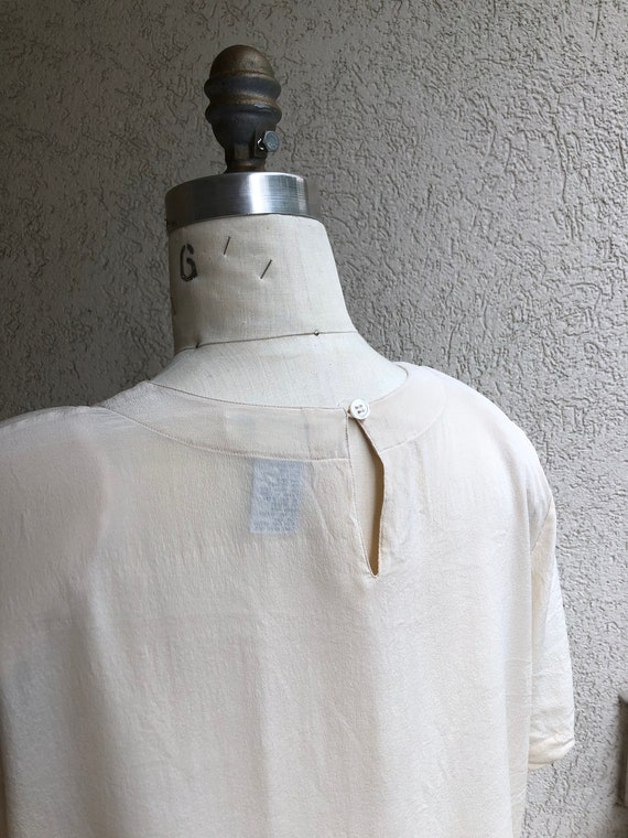 100% silk boxy ivory blouse - image 3