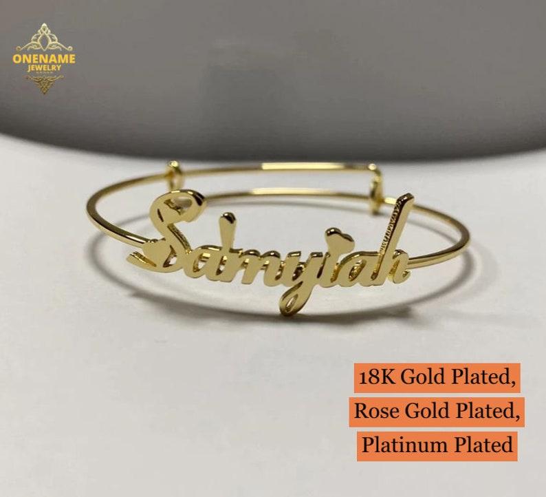 Customized Name Bracelet For Gift Customized Jewelry Your Name on Bracelet 18K Custom Name Bracelet Name Bracelet For Gift