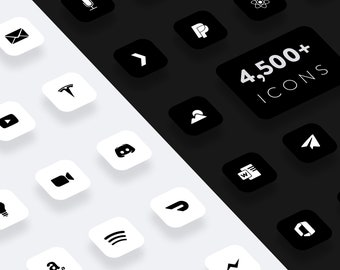 Flight - Black & White iOS 14 icons for iPhone and iPad
