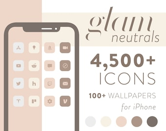 Glam - Neutral Matte iOS 14 Icons for iPhone and iPad
