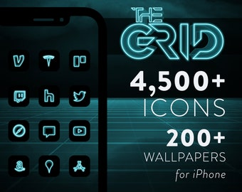 The Grid – 3D Blue iOS 14 Icons for iPhone & iPad