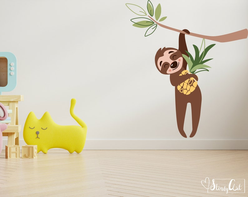 Sloth hanging svg Baby sloth svg and Colored sloth svg Summes svg for commercial use Svg sloth ornament includes Sloth sublimation file
