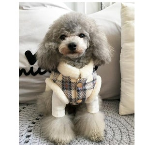 Dog Sweater Handknit Pink Poodle Shirt Puppy Clothes Blue Teacup Chihuahua Cat Coat Hand Knit Shih Tzu Dog Coat Yorky Item Westy