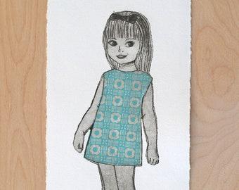 Engraving Girl