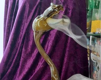 Smoked dragon made of glass