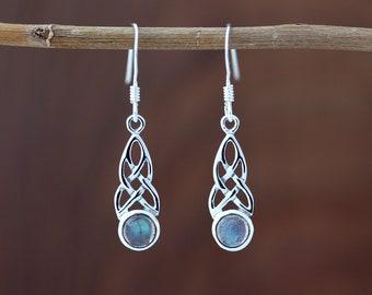 Half Moon Knot-Hallmarked 925 Sterling Silver-Edinburgh,Scotland Celtic Knot Earrings