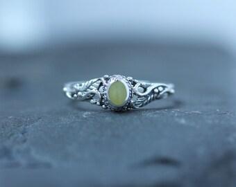 hallmarked 925 Sterling Silver Wave Scottish Marble Stone Ring Celtic Design Scotland Scottish Jewellery Edinburgh