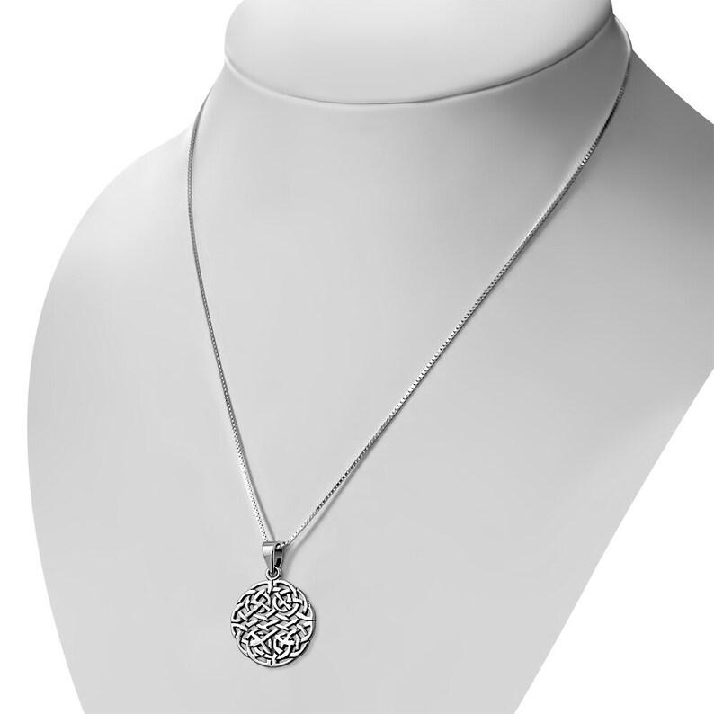 Scotland Celtic Knot Pendant Densely Knotted Shield Edinburgh Hallmarked 925 Sterling Silver